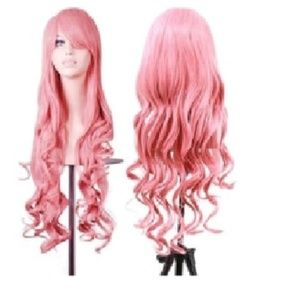 Accessories - long pink wig -- WILLING TO TAKE OFFERS